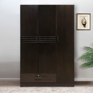 3 door black wardrobe (1)