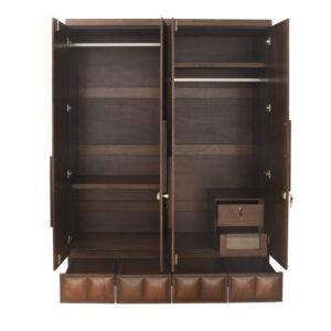 4 door brown wardrobe (1)