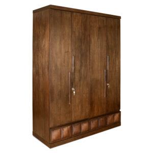 4 door brown wardrobe (2)