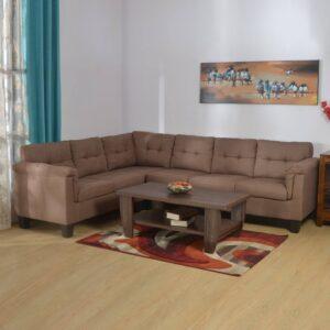brown corner sofa set (2)