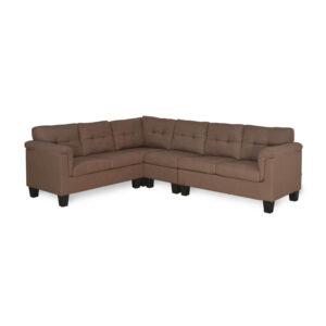 brown corner sofa set (3)