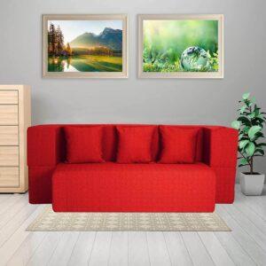 red sofa cum bed (2)