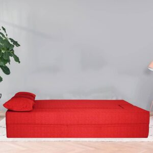 red sofa cum bed (3)